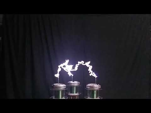 SiC 3 phase Tesla coil slow motion