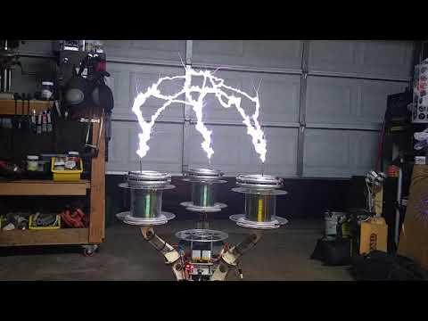 3 phase SiC Tesla Coil.