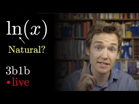 """What makes the natural log """"natural""""?   Lockdown math ep. 7"""