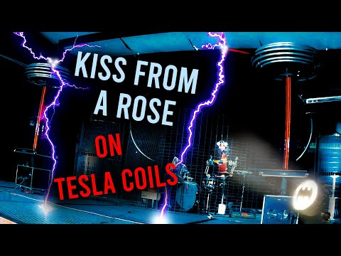 Kiss From A Rose with Musical Tesla Coils and a Robot Drummer