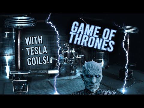 Game of Thrones Theme Song with Tesla Coils and Robot Drummer