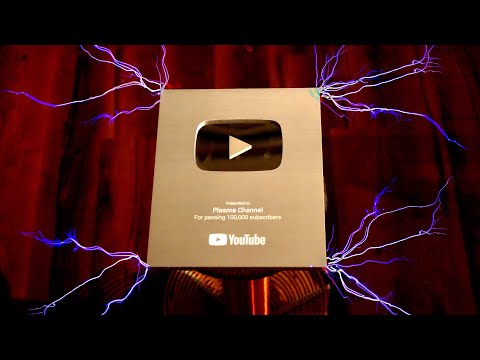100,000 volts for 100,000 people (Plasma Silver Play Button)