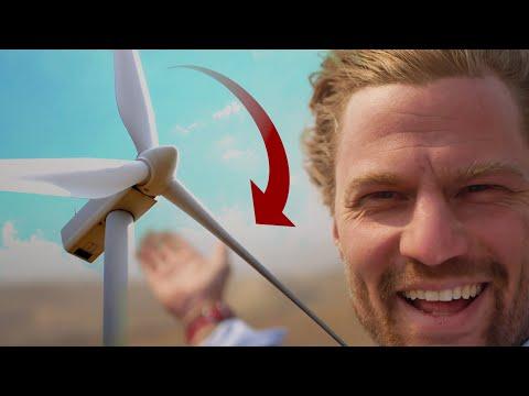 35,000 Volt Wind Energy (Up Close Turbine Tour)