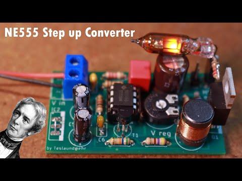 Ne555 step up converter 40V-280V DIY