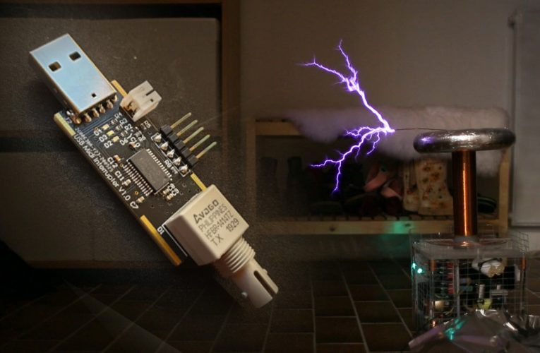 Musical Tesla Coil with Tmax USB MIDI Stick