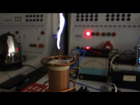 Class-E SSTC interrupted 7 MHz