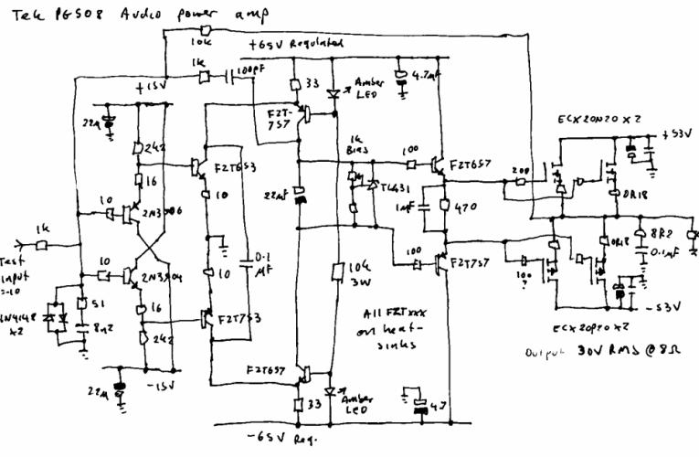 PG508 audio amp part 2