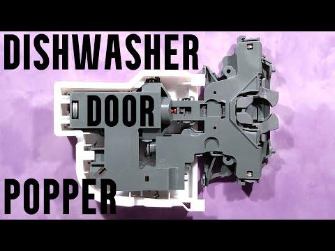 Dishwasher mech that opens door