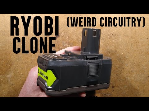 Ryobi clone battery with odd circuitry