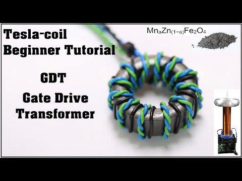 Tesla-Coil Beginner DIY Tutorial: GDT – Gate Drive Transformer