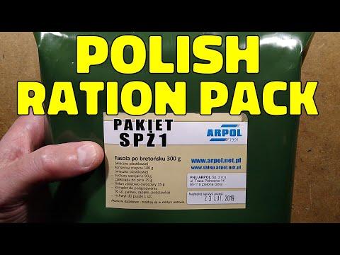 Polish MRE / emergency ration taste test